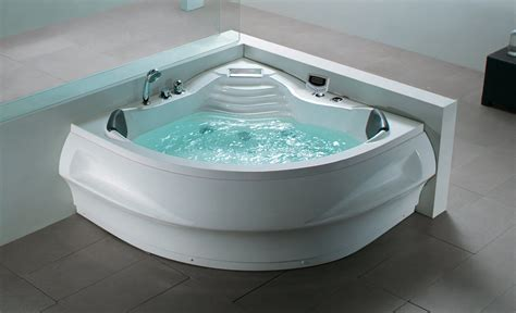 Two Person Whirlpool Bathtub Beliani Whirlpool Badewanne Eckig Spa Indoor