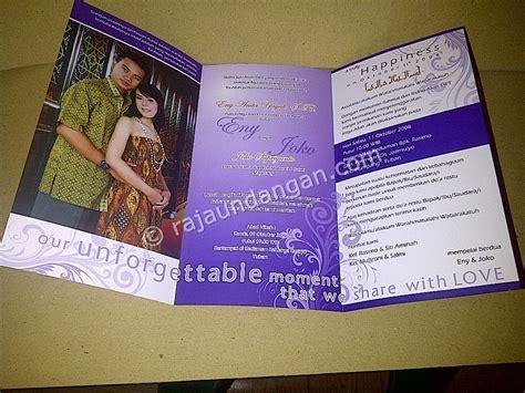 membuat undangan lipat tiga undangan softcover eny dan joko