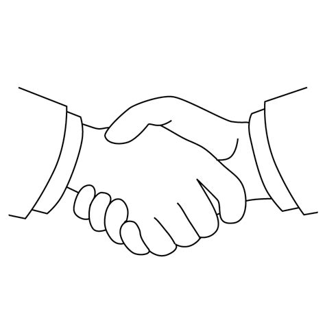 Handshake Coloring Page | handshake picture handshake coloring page