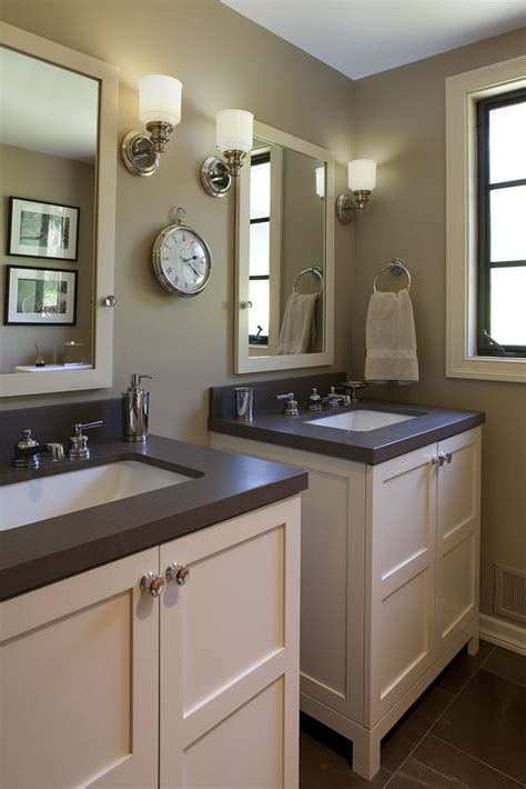 bathroom mirrors pinterest 2 vanities side by side vs one big one bathrooms