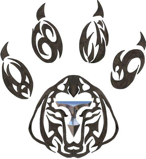 tribal dog tattoo tribal paw by burgerhicks80 on deviantart