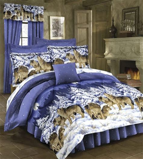 wolf comforters rustic lodge wild wolf wolves cabin twin size bed
