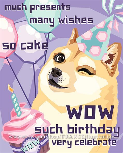 Meme Birthday Card - doge happy birthday yes memes