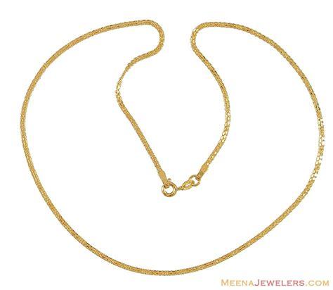 chain designs 22k gold chain 16 inches chpl9853 22k gold chain 16