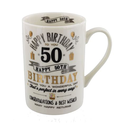 Mug Souvenir Bday 17 Birthday Mug 50th One For Occasions