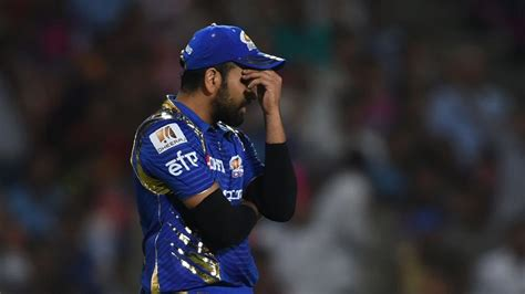 ipl com rohit sharma reprimanded for showing dissent during mi vs