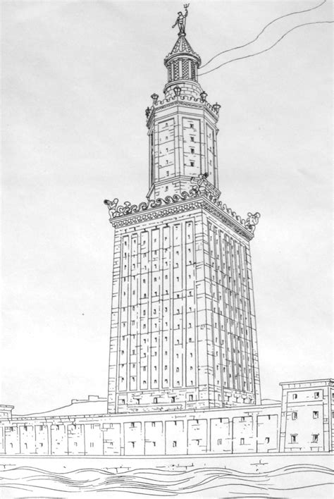 dennis rawlins contributions dio the international lighthouse of alexandria drawing