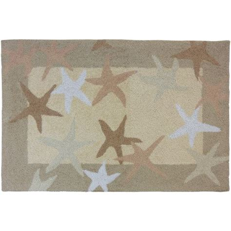 Starfish Outdoor Rug Starfish Filed Indoor Doormat Outdoor Rug 22 X 34 By Homefires Rugs