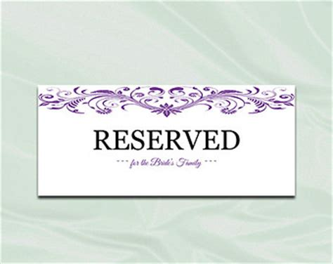 reserved sign template reserved sign template pictures to pin on