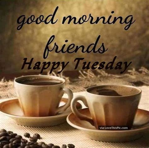 Good Morning Friends Happy Tuesday Coffee Quote Pictures, Photos, and Images for Facebook