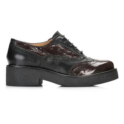 oxford platform shoes tower womens black platform oxford brogues leather