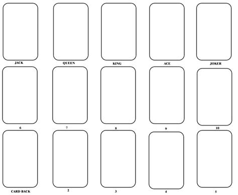 blank circle deck of cards template the 25 best blank cards ideas on