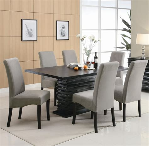 Coaster Stanton 102061 102062 Black Wood Dining Table Set Black Dining Table Set