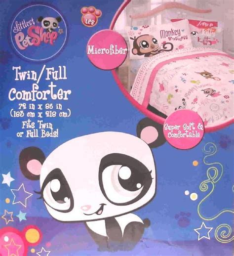littlest pet shop twin comforter sheets 4pc bedding set