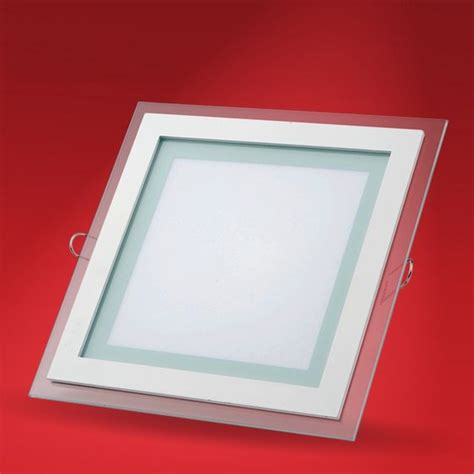 square glass ceiling light 18w 6 quot inch led panel downlight glass square led ceiling