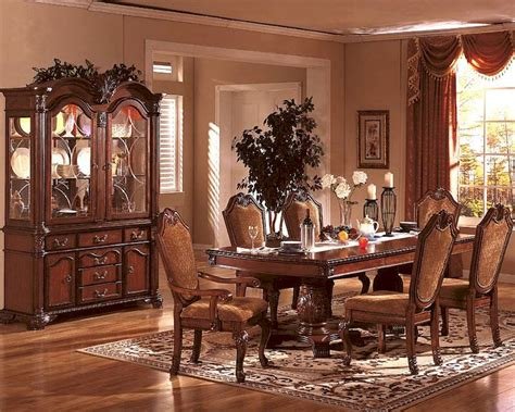 formal cherry dining room sets formal dining room set in classic cherry mcfd5006