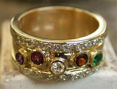 custom birthstone family ring by steve brow designs