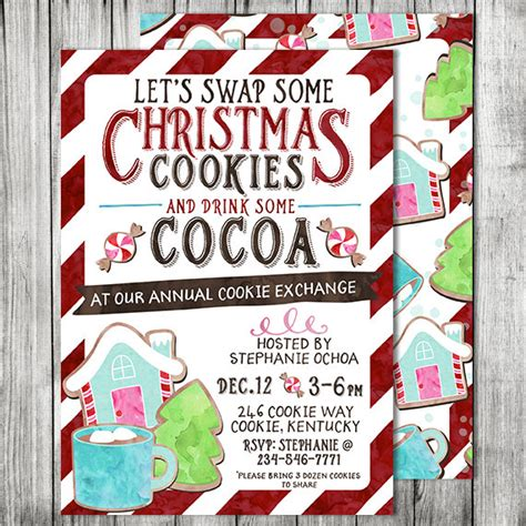 christmas exchange undee 15 15 cookie exchange invitations glitter n spice