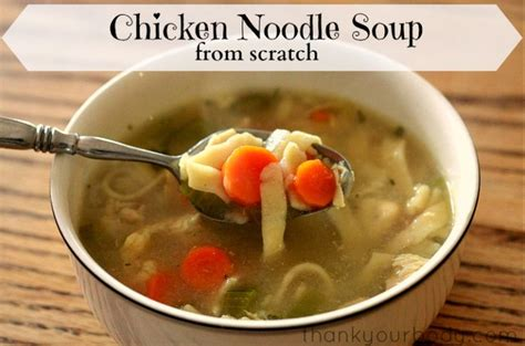 recipe chicken noodle soup from scratch