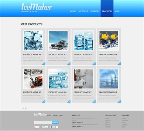 product page design template discover our new industrial flash templates
