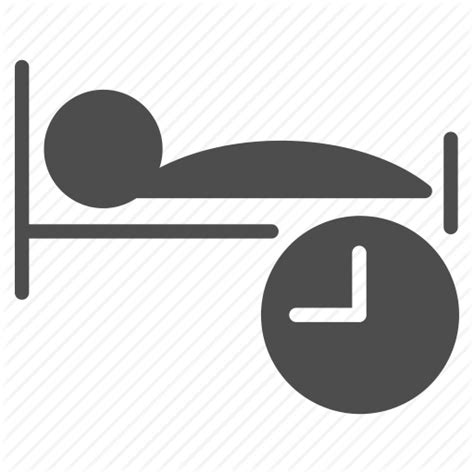 bed clock bed clock dream hotel night schedule sleep time icon