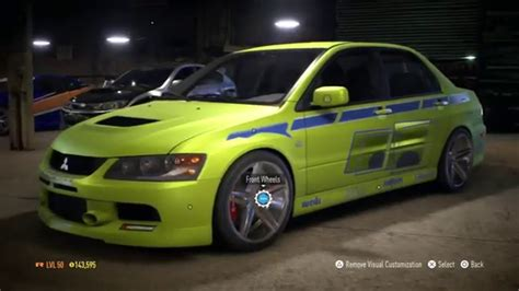 mitsubishi lancer evolution fast and furious need for speed 2015 2 fast 2 furious mitsubishi lancer
