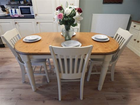 shabby chic ducal pine extending dining table amp 6 chairs