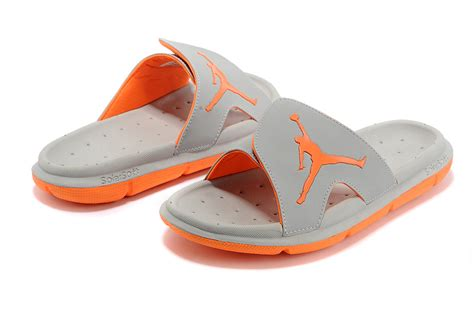 basketball slides shoes 2017 nike air hydro slide sandals grey orange