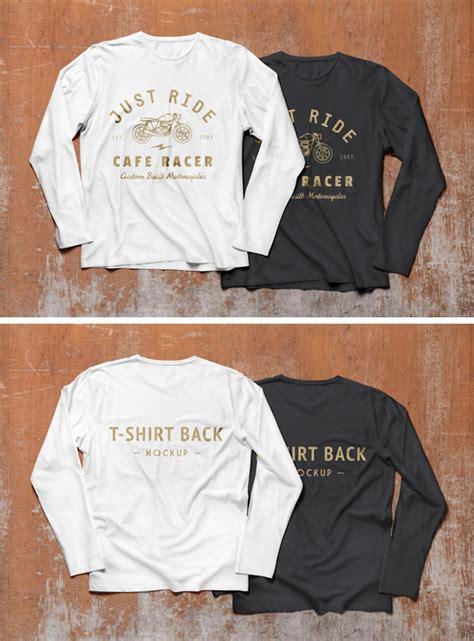 Kaos T Shirt Lengan Panjang Original Merk Details 2 sleeve t shirt mockup psd graphicburger