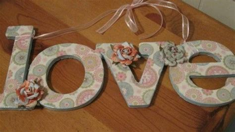 How To Decoupage Cardboard Letters - how to decorate paper mache and wooden letters words