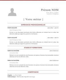 curriculum vitae francais cv template