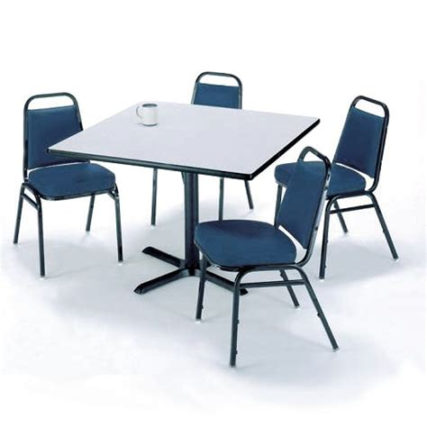 kfi t36sq im820x4 x base cafe table with four im820 padded