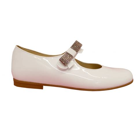 white patent leather shoes panyno white patent leather shoes with diamante