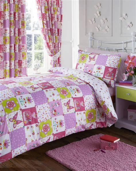 Pink Patchwork Bedding - patchwork pink reversible single duvet quilt