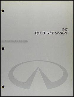 service manuals schematics 1997 infiniti qx free book repair manuals 1997 infiniti qx4 original shop manual 97 qx 4 oem repair service book ebay