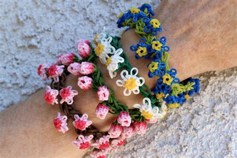 how to make flower bracelets with flower bracelets the flowers were made on the