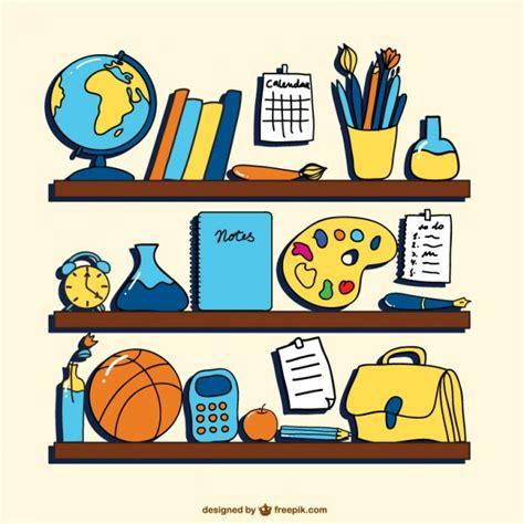 imagenes de laminas escolares vector dibujos de objetos escolares descargar vectores
