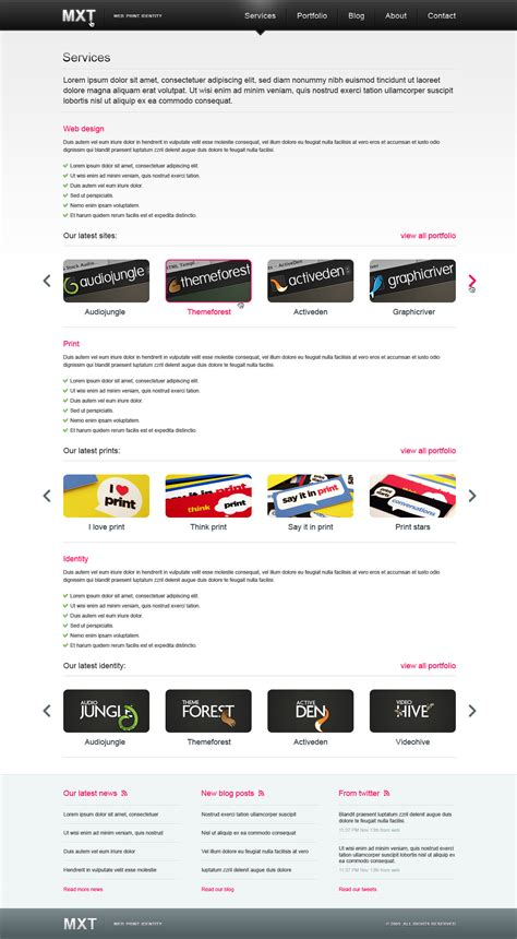 mxt business portfolio template psd by mixet themeforest