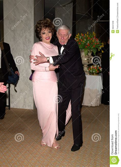 aaron spellingjoan collins editorial stock photo image