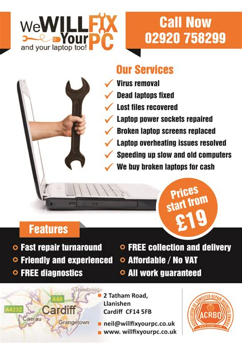 computer repair flyer template free bold modern flyer design design for we will fix your pc