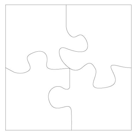 6 jigsaw template puzzle template 6 pieces clipart best