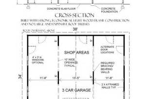 Dimensions Of A 3 Car Garage Building Floor Plans Pdf Friv5games Me