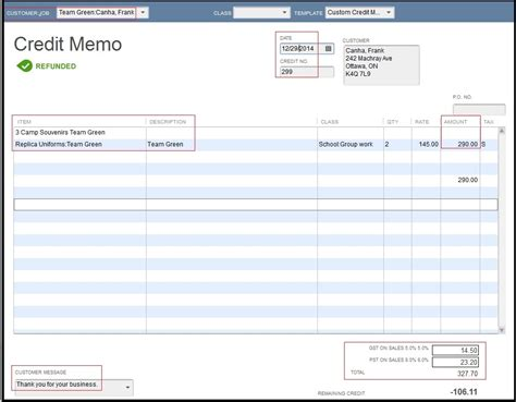 Credit Note Template Quickbooks Migrate Credit Note From Quickbooks To 300 Erp 300 Erp Tips Tricks And Components