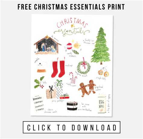christmas essentials free art print jones design company