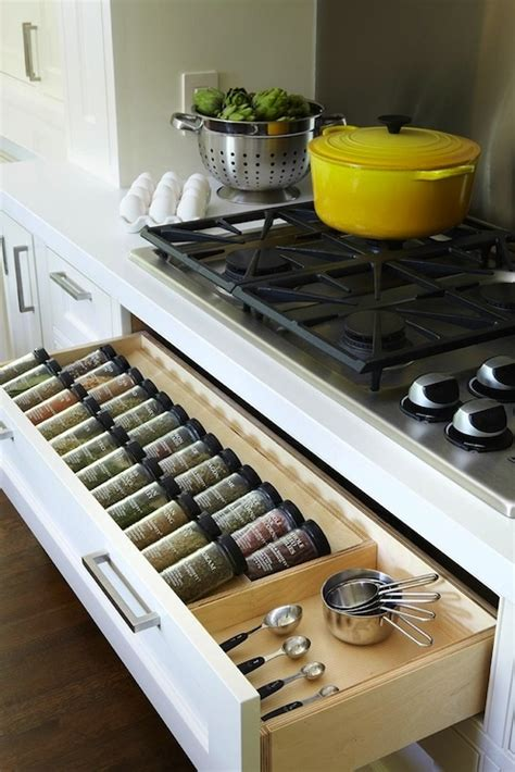 Spice Racks With Spices For Kitchen Kitchen With Spice Rack Drawer Below Gas Cooktop Well
