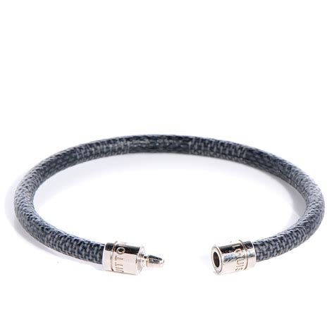 louis vuitton damier graphite keep it bracelet 19 80265