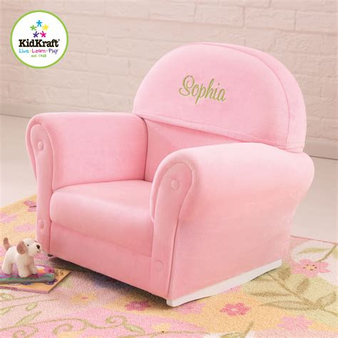 personalized baby sofa chair kidkraft velour personalized kids rocking chair reviews