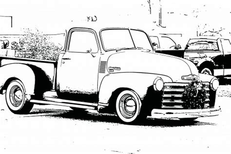 christmas truck coloring page free coloring sheets pictures of vintage cars for kids