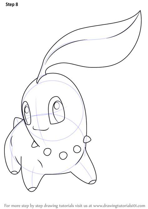 step  step   draw chikorita  pokemon