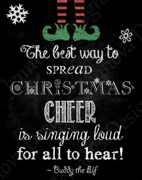 items similar   elf christmas  quote printable chalkboard  print  etsy